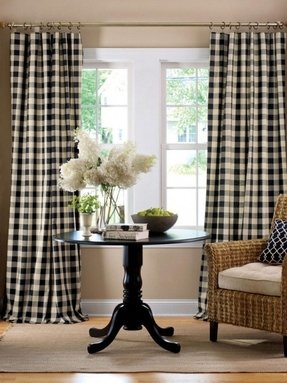 Striped panel curtains