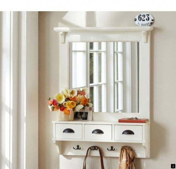 Superieur Wall Mounted Coat Rack With Mirror
