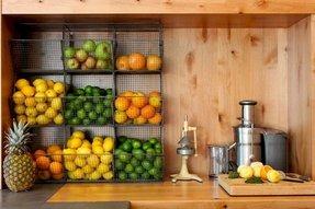 Wall mounted fruit basket