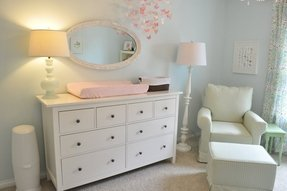 White changing dresser