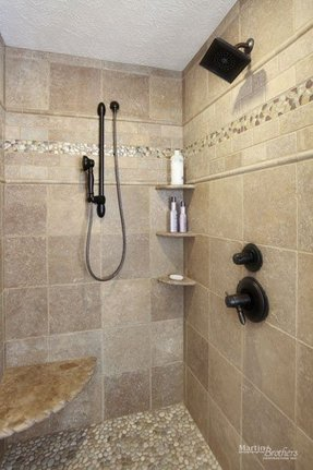 Accent tiles for shower