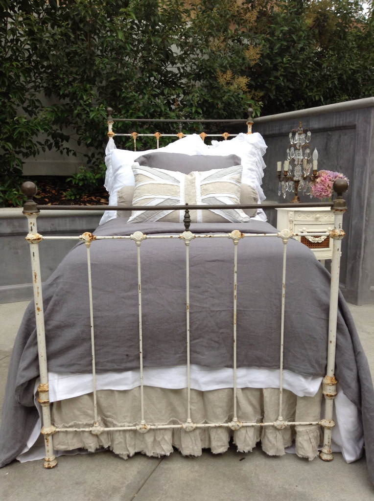 Antique iron bed twin size