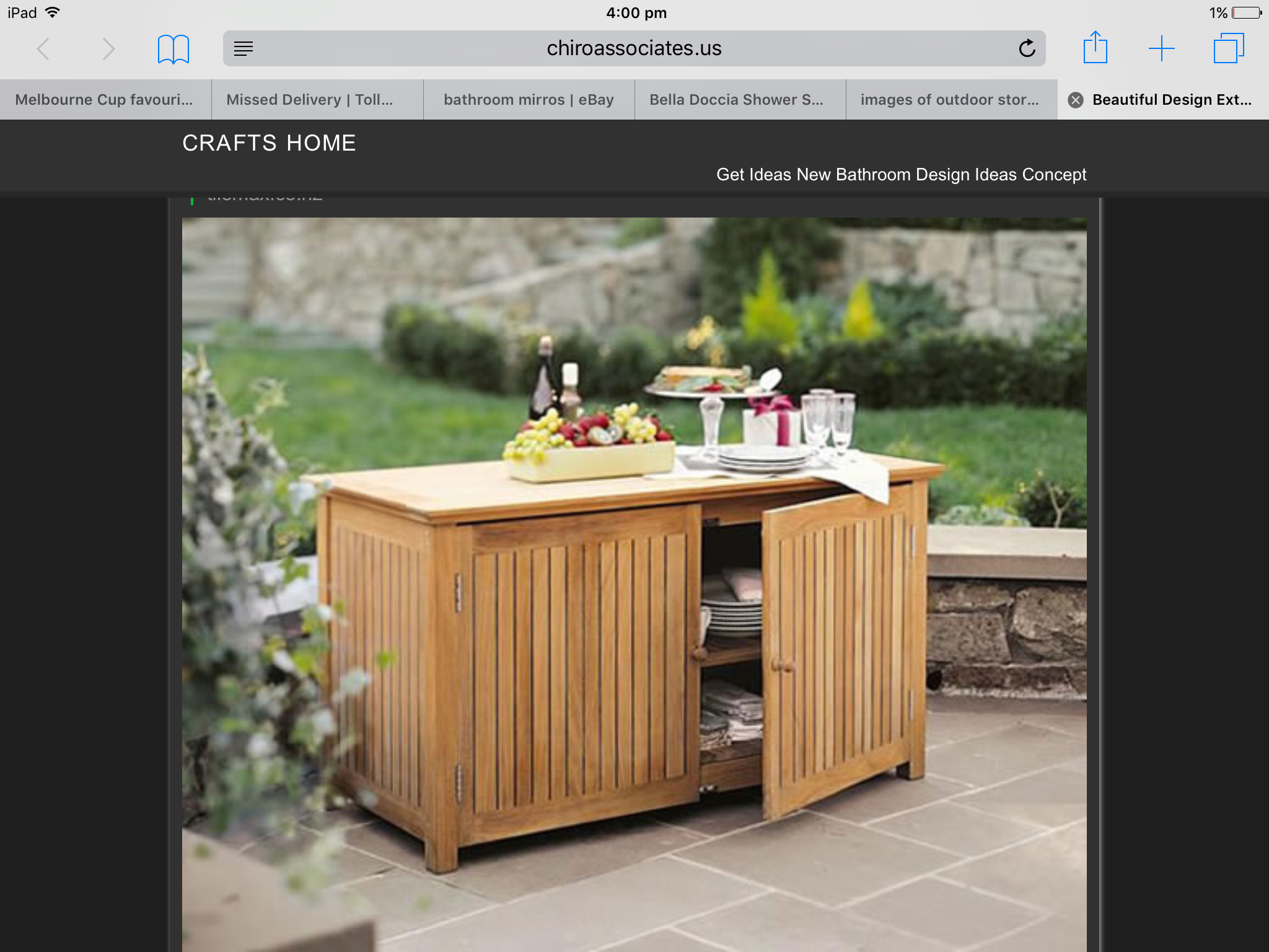 Beau Bar Chest Cabinet Teak Garden Outdoor Patio Furniture