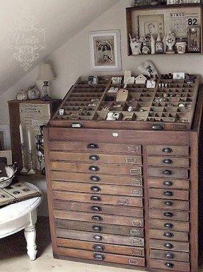 Bead Organizer Cabinet