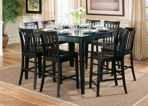 High Quality Black Pub Table Set 1