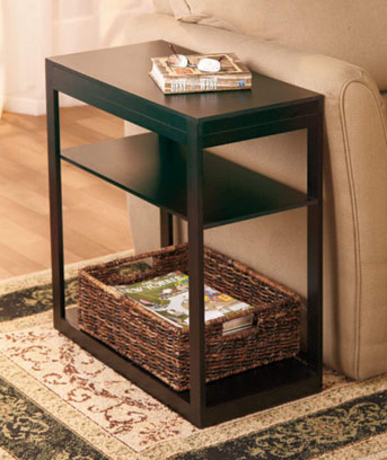 Color : A Durable Moving Side Table Storage Magazine Reading Frame High Capacity