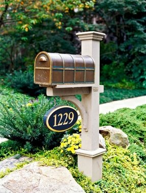Bronze mailbox and post