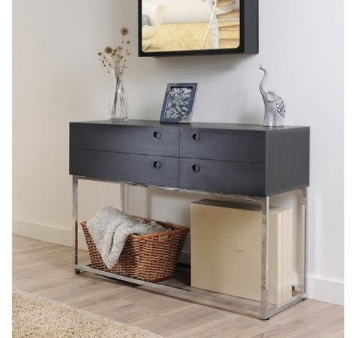 Black sofa table with drawers Modern Contemporary Functional Sofa Console Table With Drawers For Extra Storage In Black Finish For Your Foter Contemporary Console Table With Drawers Ideas On Foter
