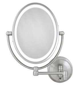 Battery Operated Wall Mounted Lighted Makeup Mirror