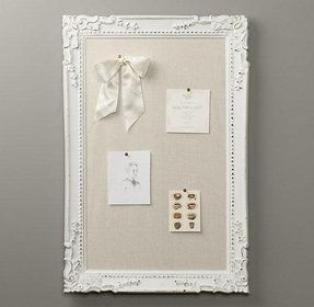 Cork board white frame