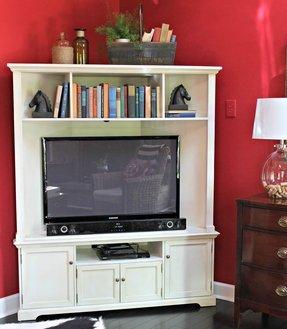 Corner Tv Stand With Doors Foter
