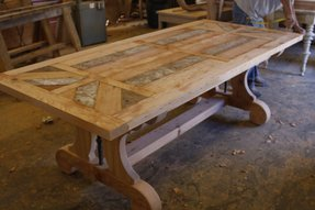 Custom Made Trestle Dining Table With Leaf Extensions Built
