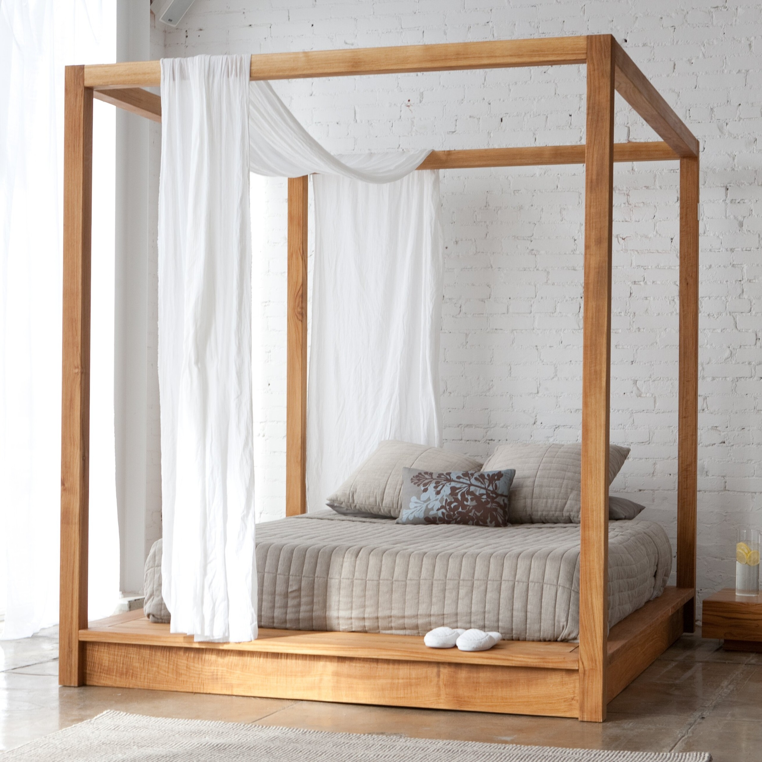 Vintage Handcrafted 14 High Post Bed