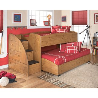 Elsa loft bed in brown