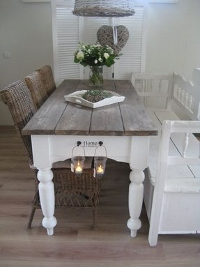 Farmhouse Table With Bench And Chairs Foter