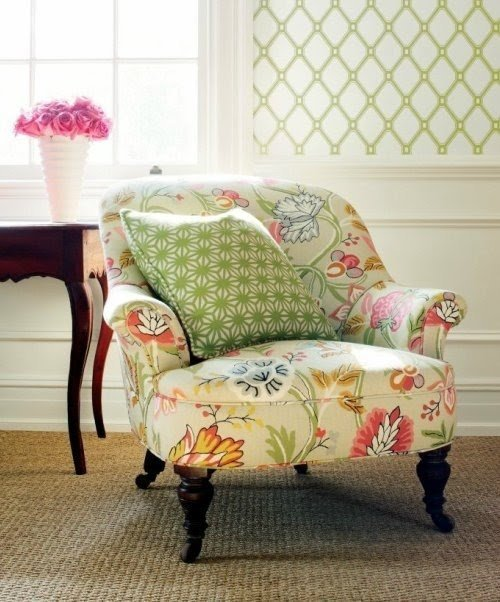 Fresh Floral Accent Chair Exterior