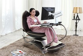 Frog 4.0 Brown-massage Chair with Built in Speakers