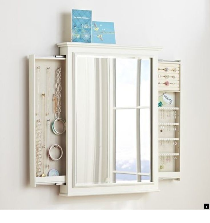 Merveilleux Wall Mirror With Jewelry Storage   Ideas On Foter