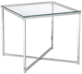 Glass top end tables metal 4
