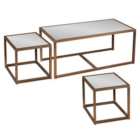 Glass top end tables metal 8