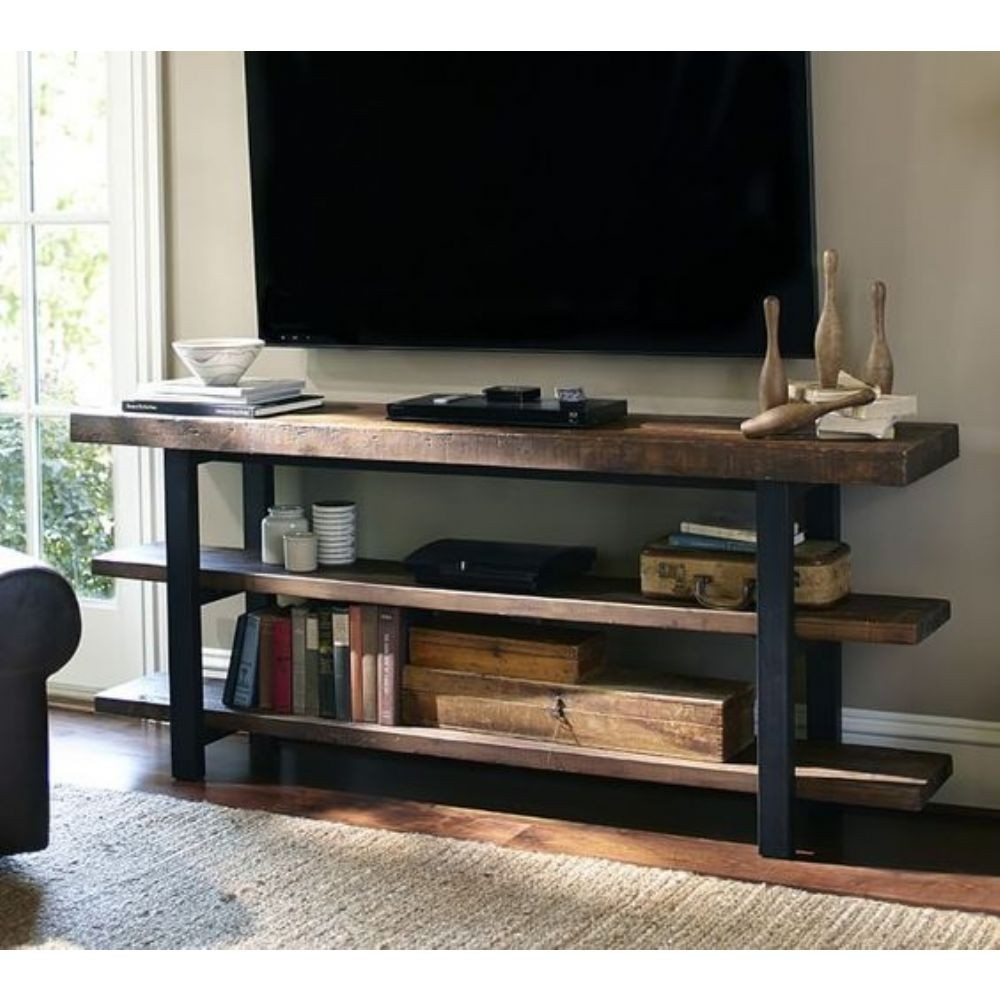 Griffin metal wood media console 1