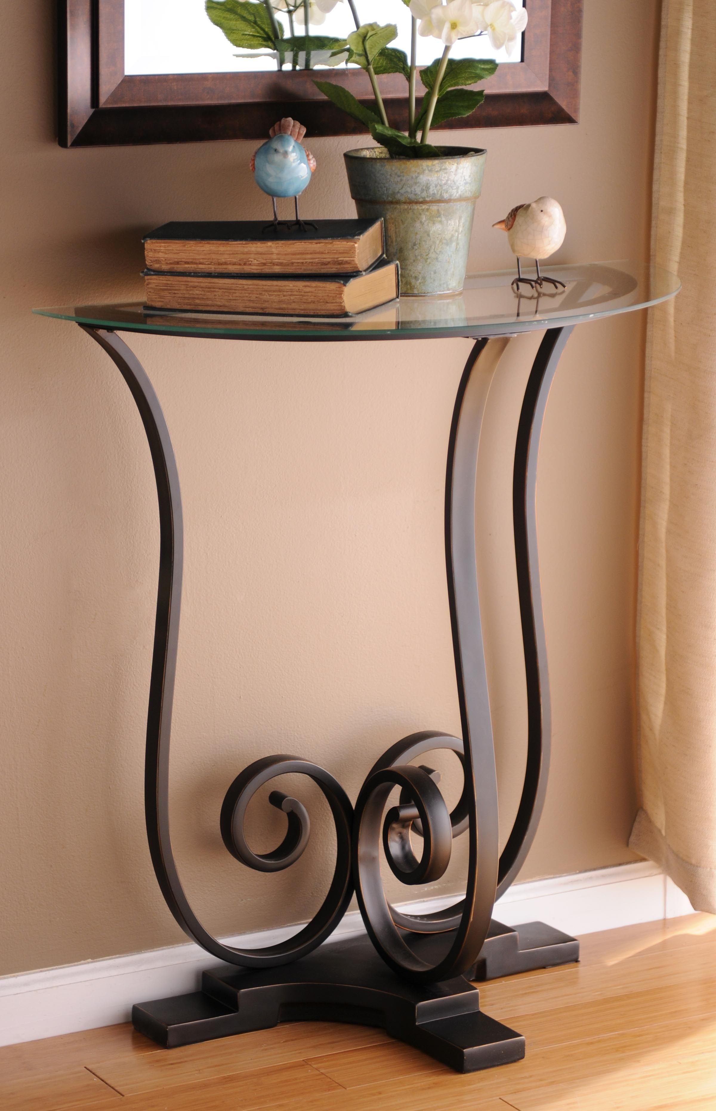 Charmant Half Round Entry Table