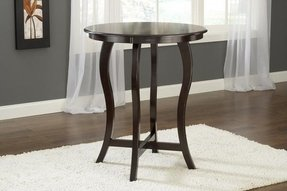 Hillsdale wilmington round bar height table in cappuccino 4933btb