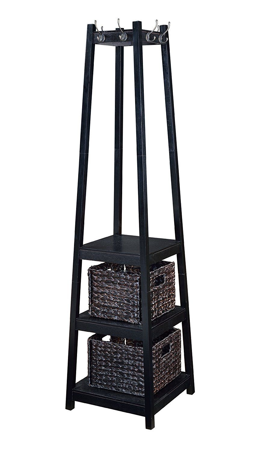 Home To Office Solutions Welcome Home Entryway Coat Rack Tower With Storage  Baskets, 72