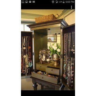 Jewelry armoire large
