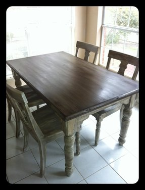 Distressed Wood Kitchen Tables - Foter
