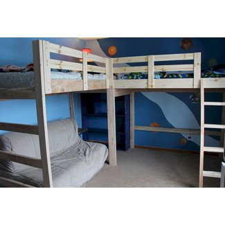 L shape loft bed 2