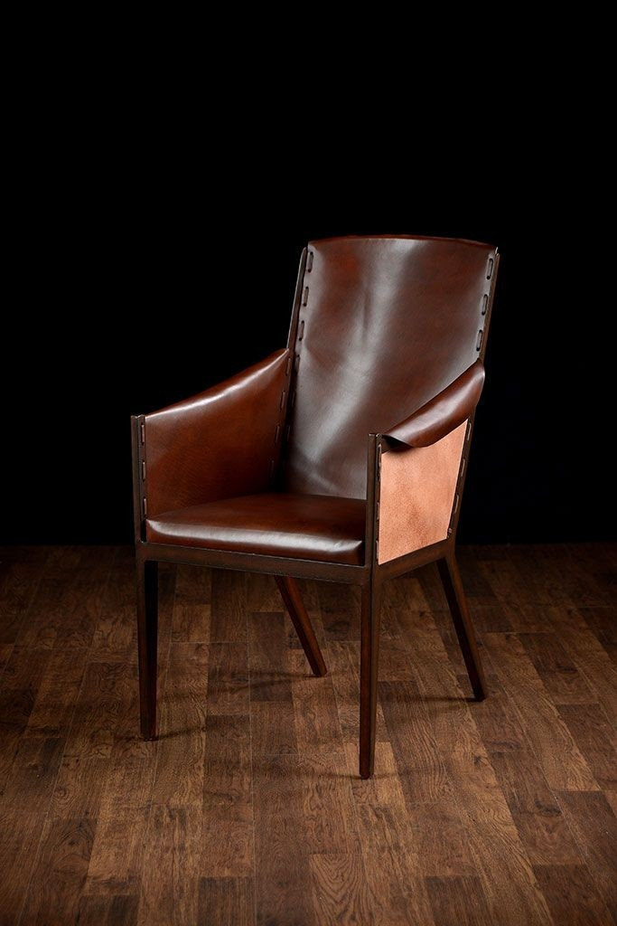 Leather Dining Room Chairs With Arms 12