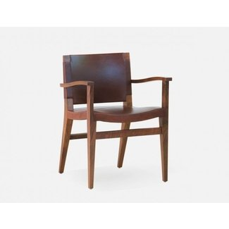 Leather Dining Room Chairs With Arms 4