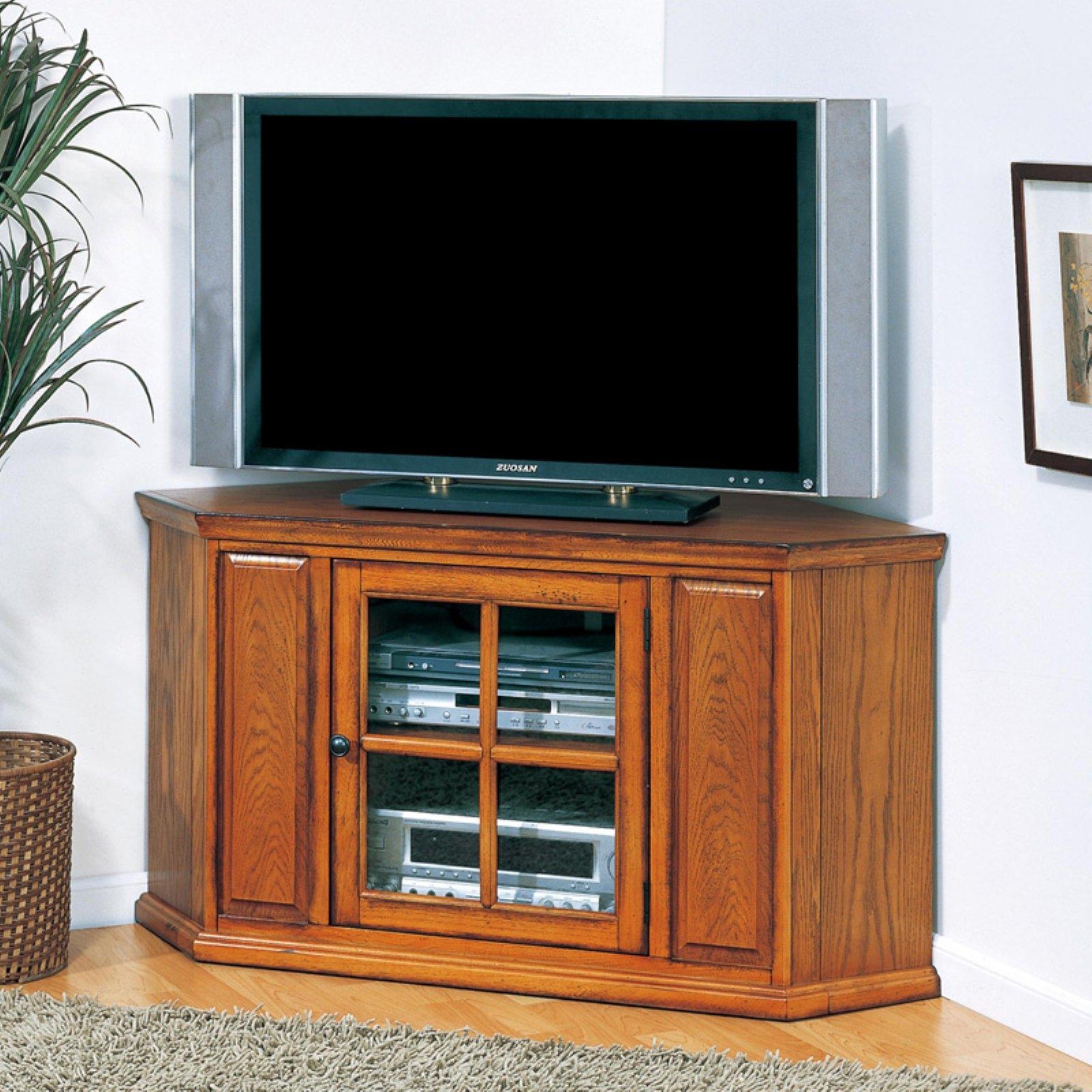 Leick Leick 88285 Riley Holliday Oak 46 In. Corner TV Console