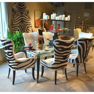3f085e61ad49 Leopard living room set. ❤ . Attractive retro dining chairs ...