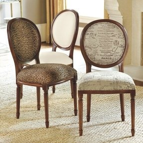 Leopard Print Dining Chairs