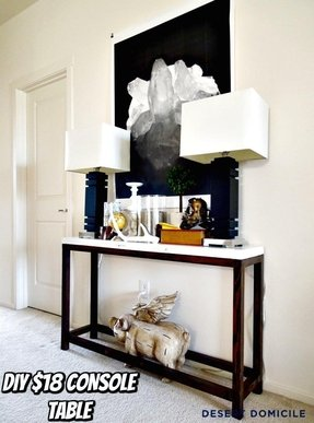 Marble top console tables