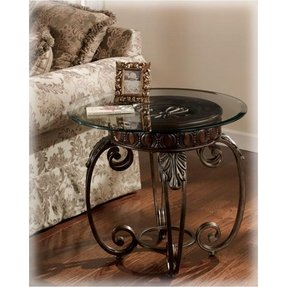 Metal end tables with glass top