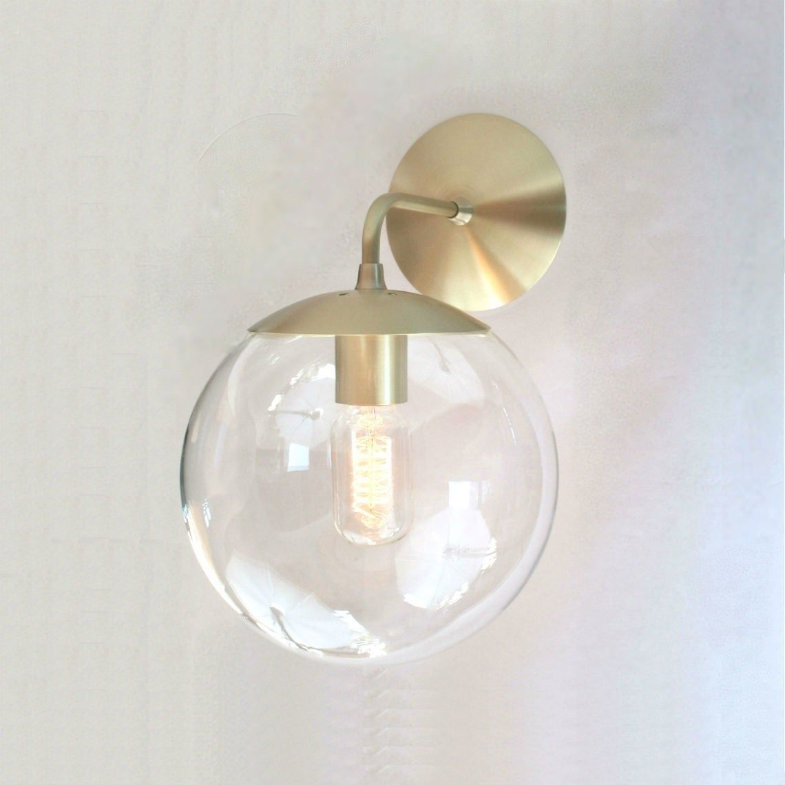 Mid century modern wall sconce 8 clear