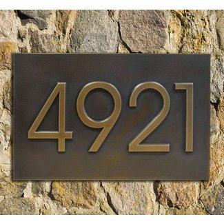 Modern home address advantage numbers 4 1