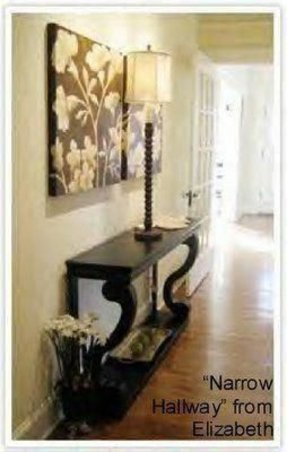 Narrow black console table