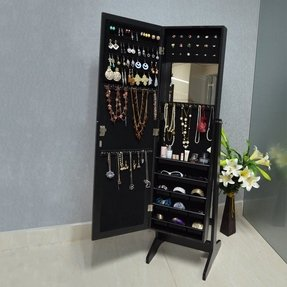 Free Standing Jewelry Armoire With Mirror Foter