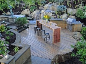 Outdoor home bars