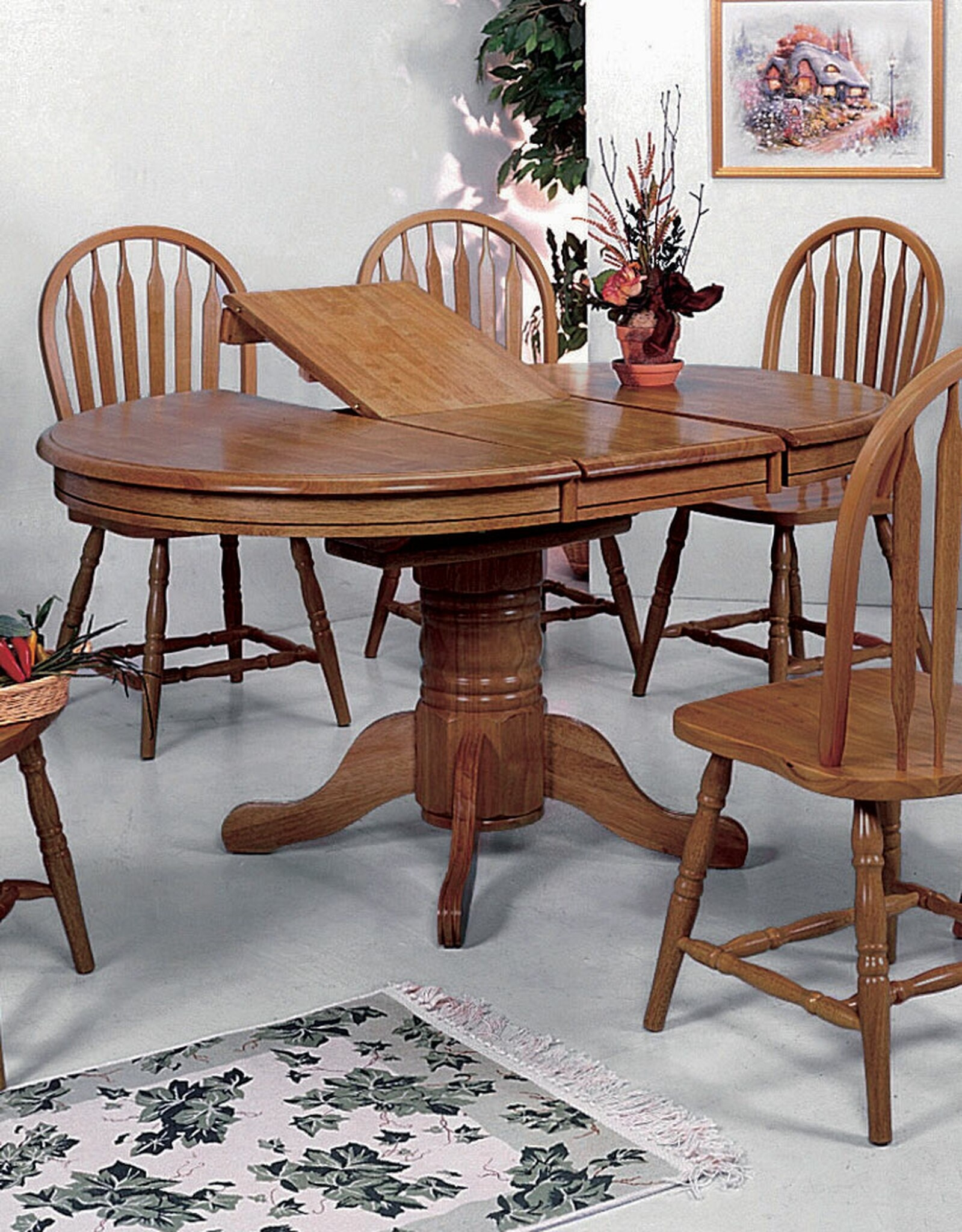 Oval Dining Table With Butterfly Leaf