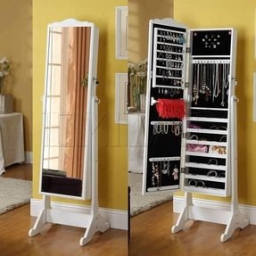 Over the door jewelry armoire with lock