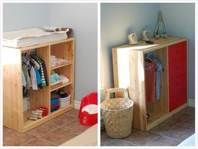 Pull down changing table