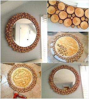 Round mirror frame diy