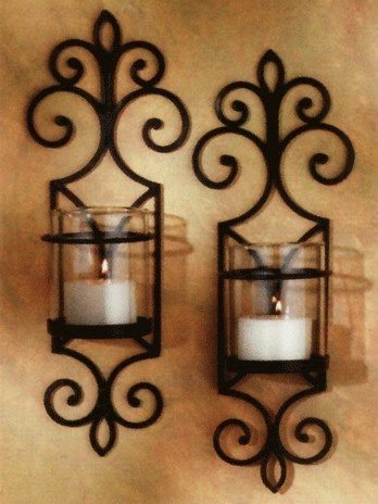 Elegant Rustic Candle Sconces