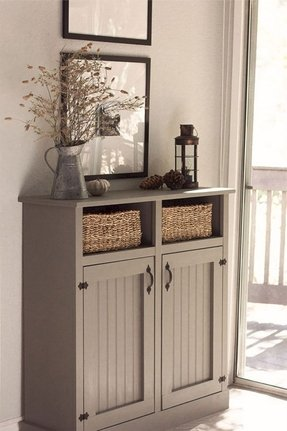 with diy bins clutter in table junk to entryway covered yahoo entry banish hide pin drawers solutions