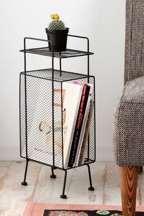 Side table magazine rack